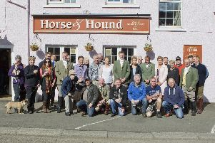 Supporters enjoy refreshments at the Horse and Hound.