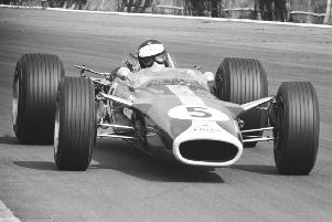 Jim Clark pictured during his last race in Britain.