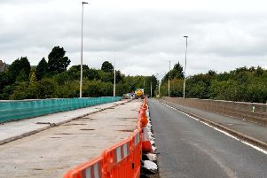 The A6091 Galafoot Bridge, which is due to officially reopen this afternoon.