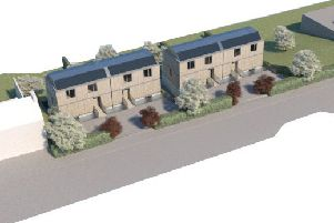 How four low-carbon homes proposed for a plot west of Thornwood Lodge in Hawick's Weensland Road would look.