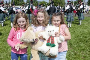 Olivia Buchanan, Imogen Parish and Layla Telford at last year's fair.
