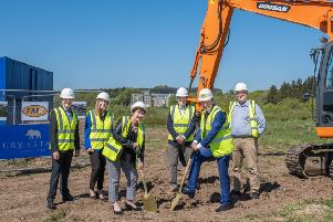A ceremony to mark the start of work on 91 new homes on the Ury Estate