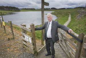 Councillor Davie Paterson at Williestruther Loch, Hawick.