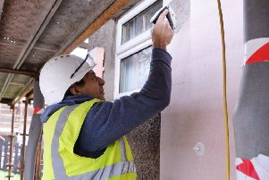 Wall insulation is one of the ways the project will tackle fuel poverty