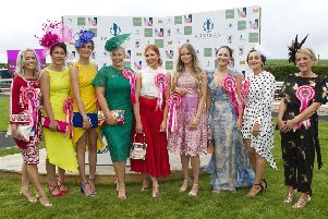 Finalists for best dressed lady at the races.