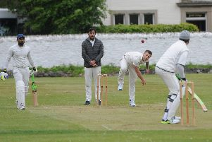 Jordan Reid bowling for Selkirk (picture by Grant Kinghorn).