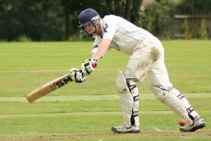 Finlay Rutherford scored 28 not out in the curtailed gme for Gala.