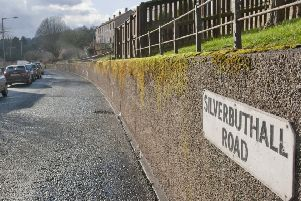 Silverbuthall Road in Hawick.