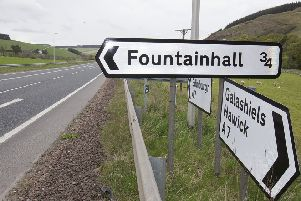 The collision happened on the A7 near Fountainhall.