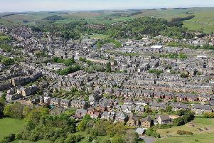 Hawick seen from the air.