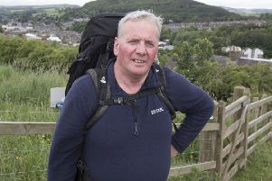 Bill Jeffrey is ready to don his walking boots for a massive challenge in aid of Galashiels' Christmas lights.