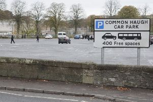 Hawick's Common Haugh car park.