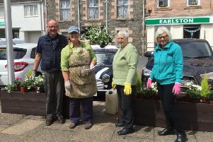 Earlston In Bloom volunteers