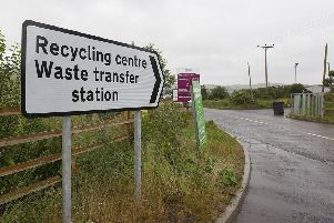 Waste transfer site at Easter Langlee, Galashiels.