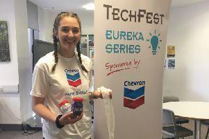 Jessica Brook, TechFests summer placement student who has been helping with the sessions