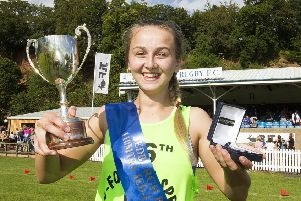 Rianna Sterricks  was delighted to win the Jedburgh 110m Sprint.