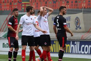 Action from Clyde v Airdrieonians (picture: Craig Black)