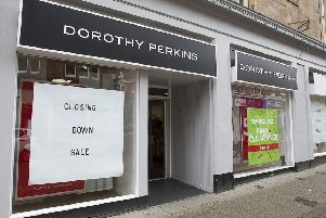 Dorothy Perkins in Channel Street, Galashiels.