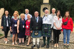 Members of the Rhymers Group, Earlston, attending commemorations in Russia. The first Scottish group to be invited there in around 30 years.