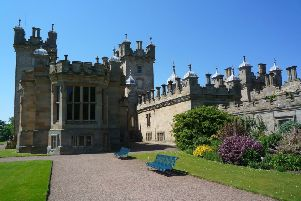 Witnesses are being sought to the three-car collision on Friday afternoon, at the entrance to Floors Castle, pictured above.