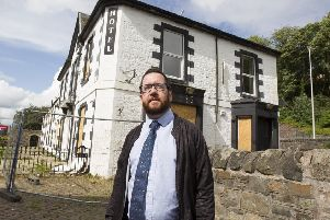 Galashiels Councillor Euan Jardine at the Abbotsford Arms Hotel, Galashiels