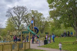The new playpark at Harestanes.