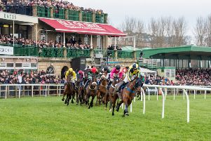 Typically exciting action at Kelso Racecourse (library picture)