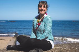 Hazel Smith, founder of the Eyemouth-based ReTweed.