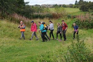 Walkers on Selkirk Hill.