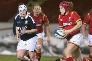 Lana Skeldon (left) in action against Wales (archive image by SNS Group / SRU Paul Devlin)