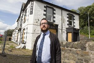 Galashiels councillor Euan Jardine at the Abbotsford Arms Hotel.