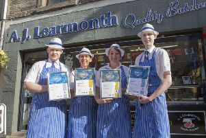 Staff at Alan Learmonth's Butchers in Jedburgh celebrate success at the Craft Butcher Awards 2019.