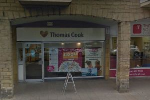 Thomas Cook in Channel Street in Galashiels.