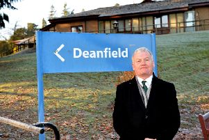 Hawick and Hermitage councillor Davie Paterson outside Deanfield in Hawick.