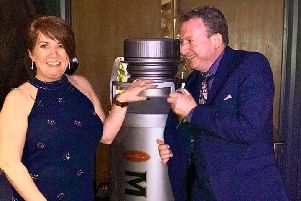 Lynne and Ross Horrocks at the Scotsman Food and Drink Awards on Sunday evening.