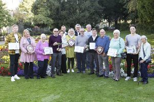 Galashiels Community Council and Gala in Bloom held their annual award presentations in Old Gala House on Saturday. Pictured are all the winners of the various categories.