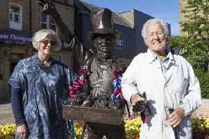 Sculptor Anglea Hunter and folk singer Jimmie Macgregor, who made the song famous, were there for the unveiling of the Robert Coltart statue.