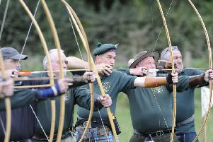Ettrick Forest Archers provided a come and try archery as part of the days entertainment''(photo: Rob Gray)