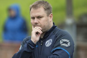 Manager Andy Frame was disappointed to see his players' efforts against Hurlford go unrewarded