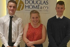 Borders chartered accountants Douglas Home & Co have taken on three new trainees following the success of last year's programme.'The new recruits ' pictured, from left, Jake Kerr, Jessica Howlett and Rhys Lawrence ' will spend time working in various departments over the next 12 months, all to give them a flavour of working in the industry while gaining experience.