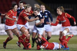 Chloe Rollie in action for Scotland in a previous Six Nations clash with Wales (SNS Group / SRU Paul Devlin)