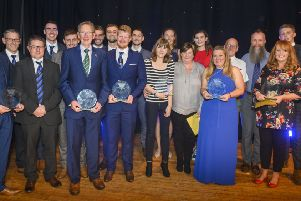 Some of the principal award winners in the ceremony at Selkirk (picture by Phil Wilkinson).