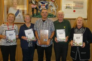 Denise Jones (Coldingham, Small Village), Betty Hodges (Kelso, Town), Henry Wear (Jedburgh, Champion of Champions), Owen Rollands (Melrose, Large Village) and Grace Donaldson (Westruther, Wee Village)