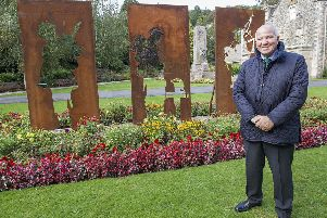 Councillor Watson McAteer at Wilton Lodge Park, which has been awarded Centenary Field status.