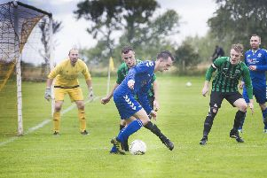 Selkirk's Rory Banks scored a hat trick against Hawick Legion in the Collie Cup Final (picture by Bill McBurnie)