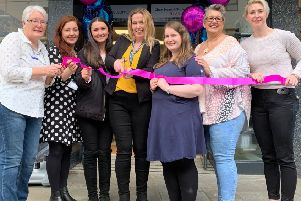 Chest Heart & Stroke Scotland last Thursday opened a new boutique shop filled with designer labels and one-of-a-kind finds at 8-16 Horsemarket, Kelso. The charity's Borders retail team officially opened the new boutique. Shop managers Hazel Millar, from Galashiels, Laura Williamson, Hawick, and Nicola Wood, Melrose, were among those who gathered to support the new Kelso shop manager, Tracey Charters, on the opening day. Pictured: Margaret Kerr, volunteer; Beth Young, Haddington shop manager; Carly Saunders, HR; Tracey Charters; Jennifer Eardley, HR; Carol McGeoghean, assistant manager; Sam Easton, head of retail products.