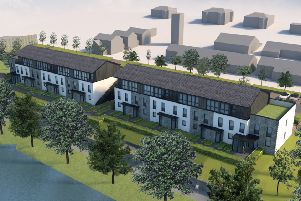 How a housing development being planned at Tweedbridge Court in Peebles would look.