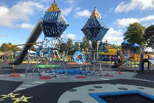 Kelso's new play park at Shedden Park on official opening day.