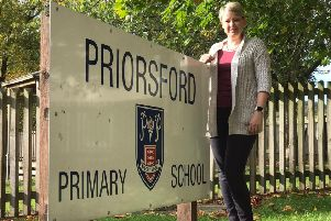 Scottish Borders Council leader Shona Haslam outside Priorsford Primary School in Peebles.