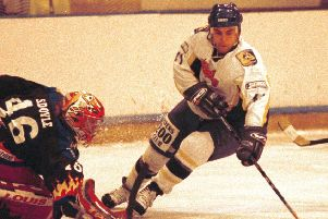 Fife Flyers in 1999 - Russell Monteith  in action (Pic: Bill Dickman)